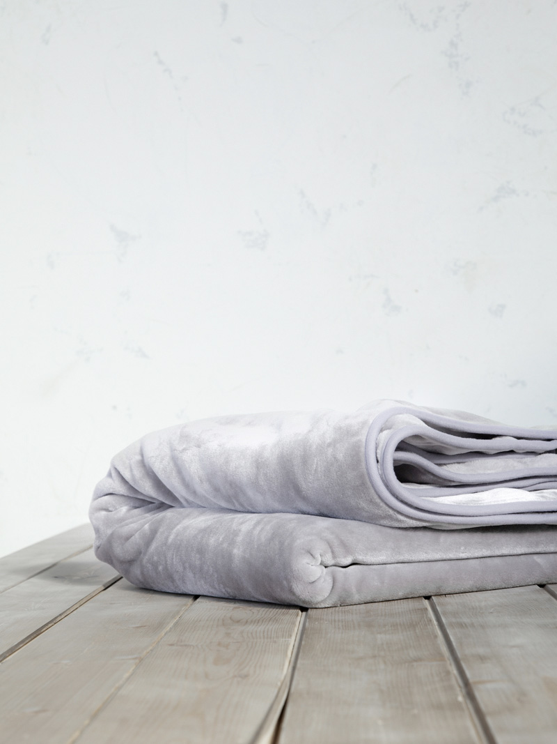 Κουβέρτα Βελουτέ Μονή 160×220 Nima Coperta Light Gray
