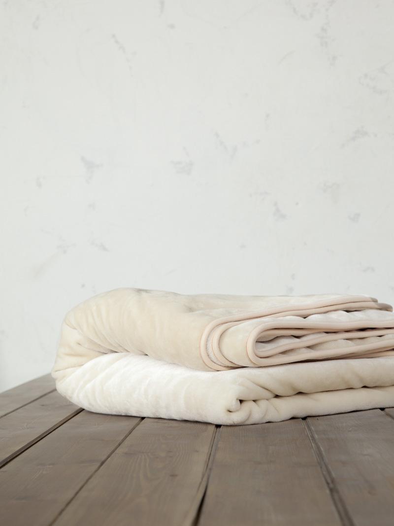 Κουβέρτα Βελουτέ Υπέρδιπλη 220×240 Nima Coperta Light Beige