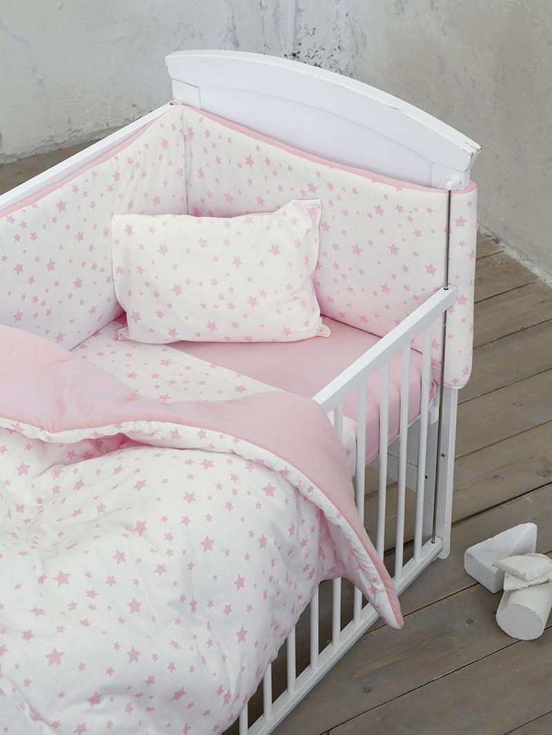 Σεντόνια Κούνιας (Σετ) 120×170 Nima Giggle Pink Χωρίς Λάστιχο