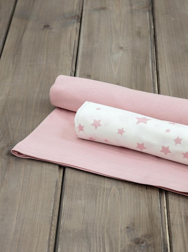 Σεντόνια Λίκνου (Σετ) 70×110 Nima Giggle Pink Χωρίς Λάστιχο