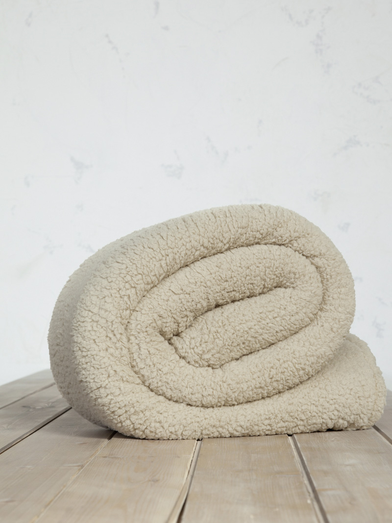 Κουβέρτα Βελουτέ Μονή 150×220 Nima Beige Beige
