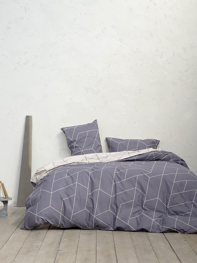 Σεντόνια Διπλά (Σετ) 200×260 Nima Parity Gray Χωρίς Λάστιχο