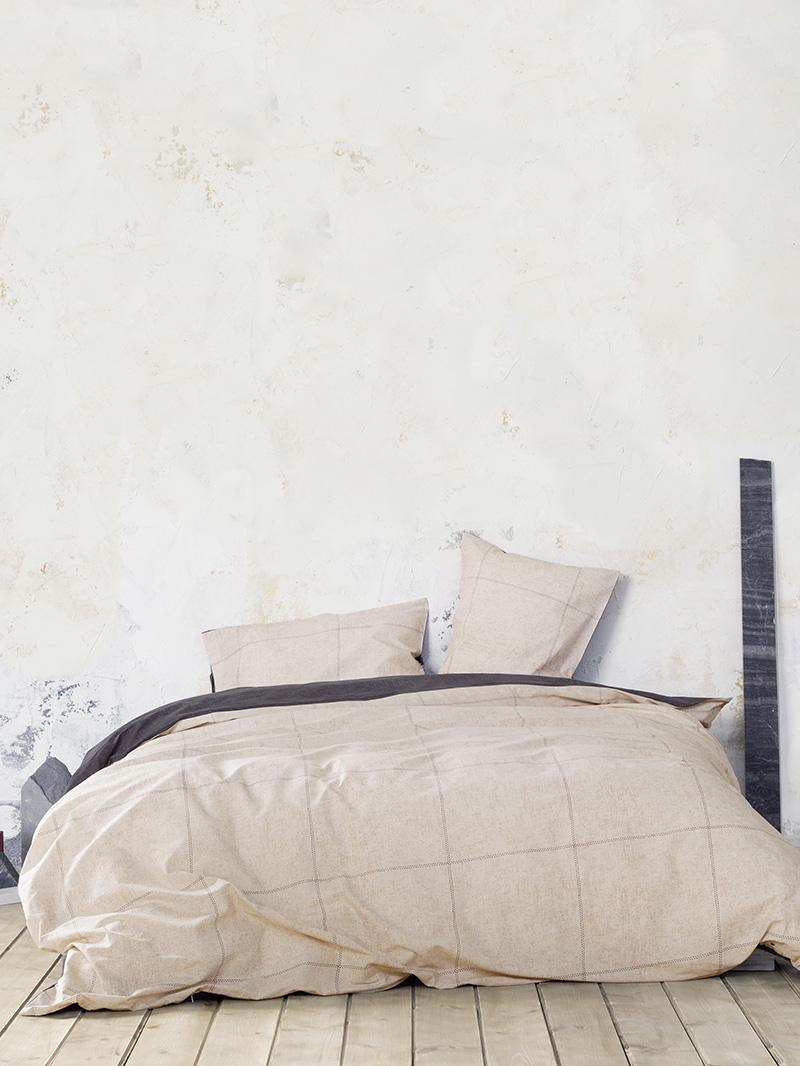 Σεντόνια Μονά (Σετ) 170×260 Nima Tailor Beige Χωρίς Λάστιχο