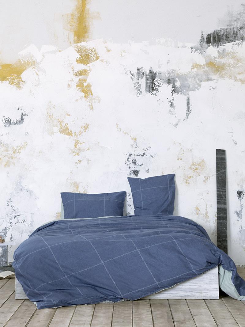 Σεντόνια Διπλά (Σετ) 200×260 Nima Tailor Blue Χωρίς Λάστιχο