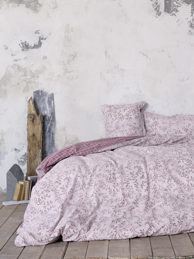 Σεντόνια Μονά (Σετ) 100×200+32 Nima Adamello Cassis Με λάστιχο