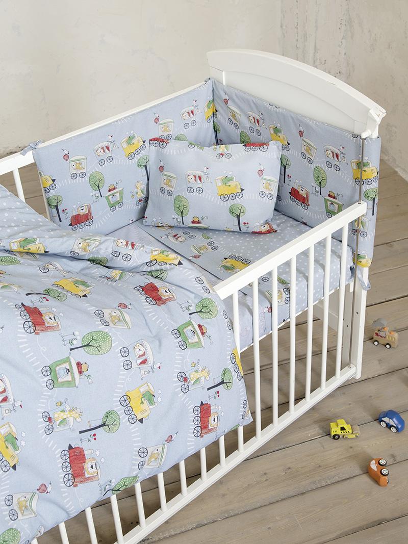 Σεντόνια Κούνιας (Σετ) 120×170 Nima Baby Express Χωρίς Λάστιχο