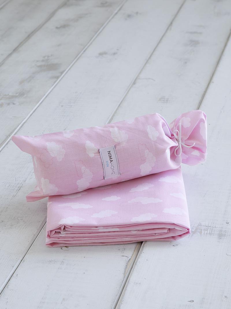 Σεντόνι Μεμονωμένο Μονό 170×255 Nima Nuage Pink Χωρίς Λάστιχο