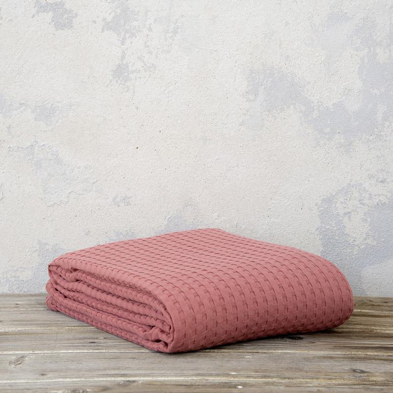 Κουβέρτα Πικέ Μονή 160X240 Nima Habit Terracotta