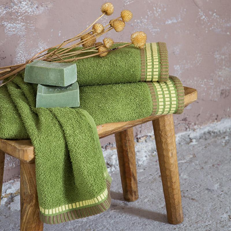 Πετσέτες Μπάνιου (Σετ 3 Τμχ) Nima Siren Olive