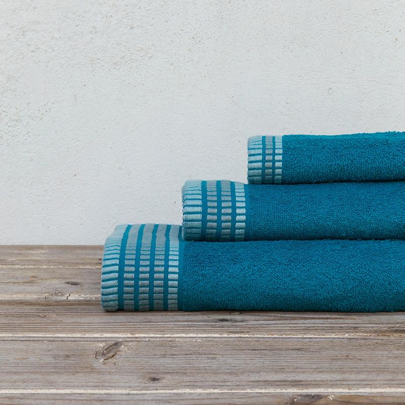 Πετσέτες Μπάνιου (Σετ 3 Τμχ) Nima Siren Blue
