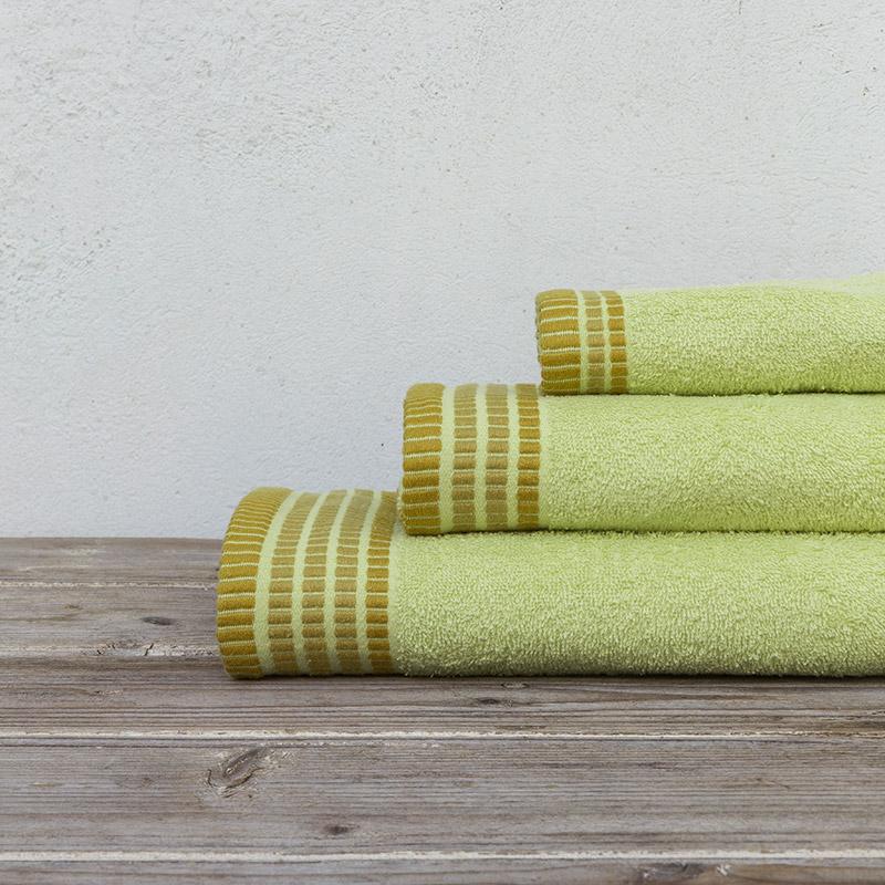 Πετσέτες Μπάνιου (Σετ 3 Τμχ) Nima Siren Lime Green
