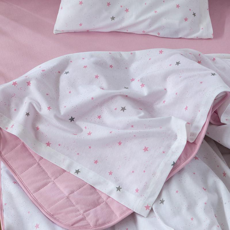 Σεντόνια Κούνιας (Σετ) 120×170 Nima Nene Pink Χωρίς Λάστιχο