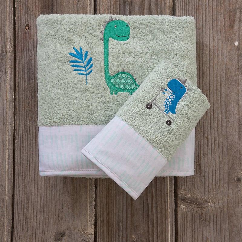 Παιδικές Πετσέτες (Σετ 2 Τμχ) Nima Dinoskating
