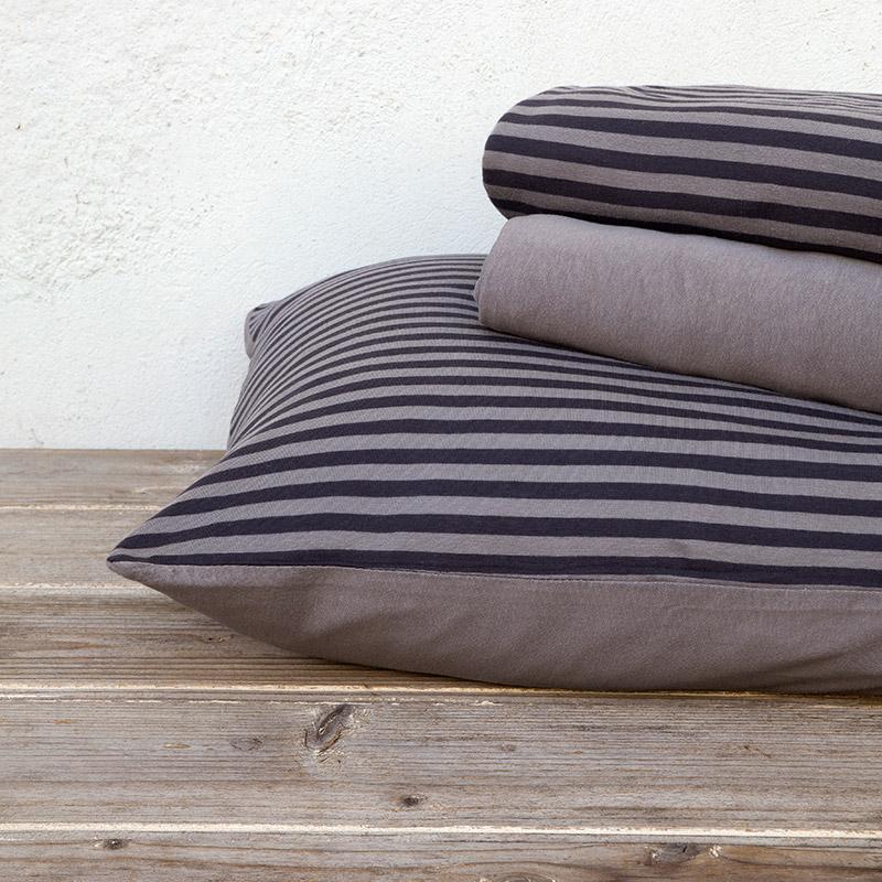 Σεντόνια Υπέρδιπλα (Σετ) 160×200+30 Nima Suave Dark Gray Με Λάστιχο