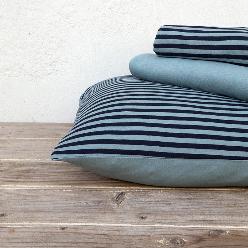 Σεντόνια Μονά (Σετ) 100×200+30 Nima Suave Dark Blue Με Λάστιχο