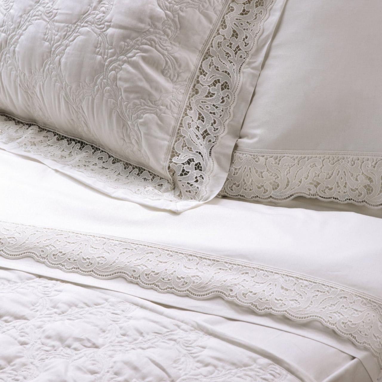 Σεντόνια Υπέρδιπλα (Σετ) 240X270 Kentia Serenity Clelia Λευκό Χωρίς Λάστιχο