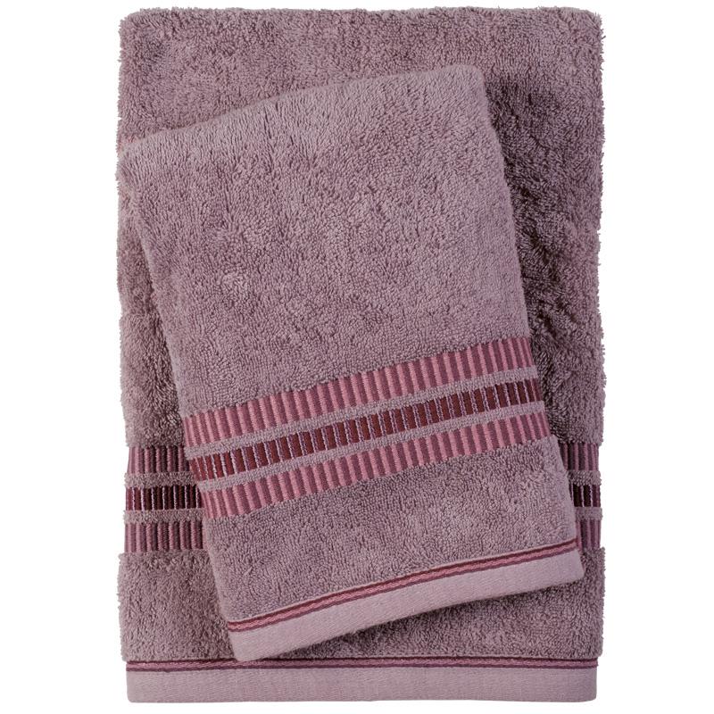Πετσέτες Μπάνιου (Σετ 3 Τμχ) Das Home Soft Best 0401 Λιλα