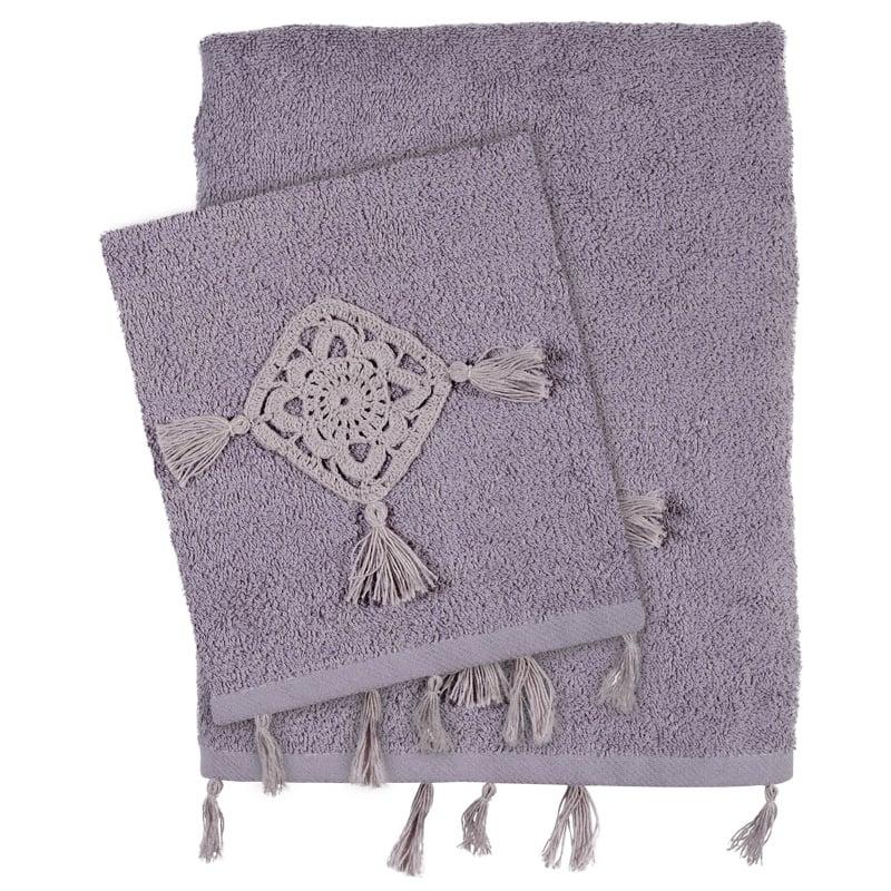 Πετσέτες Μπάνιου (Σετ 3 Τμχ) Das Home Soft Daily 0411 Λιλα