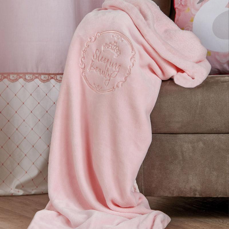 Κουβέρτα Fleece Κούνιας 110X140 Kentia Serenity Beauty Ροζ