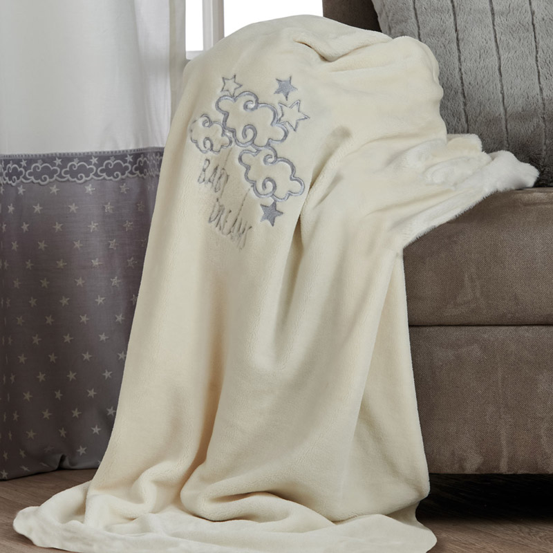 Κουβέρτα Fleece Αγκαλιάς 80X110 Kentia Serenity Baby Dream Γκρι