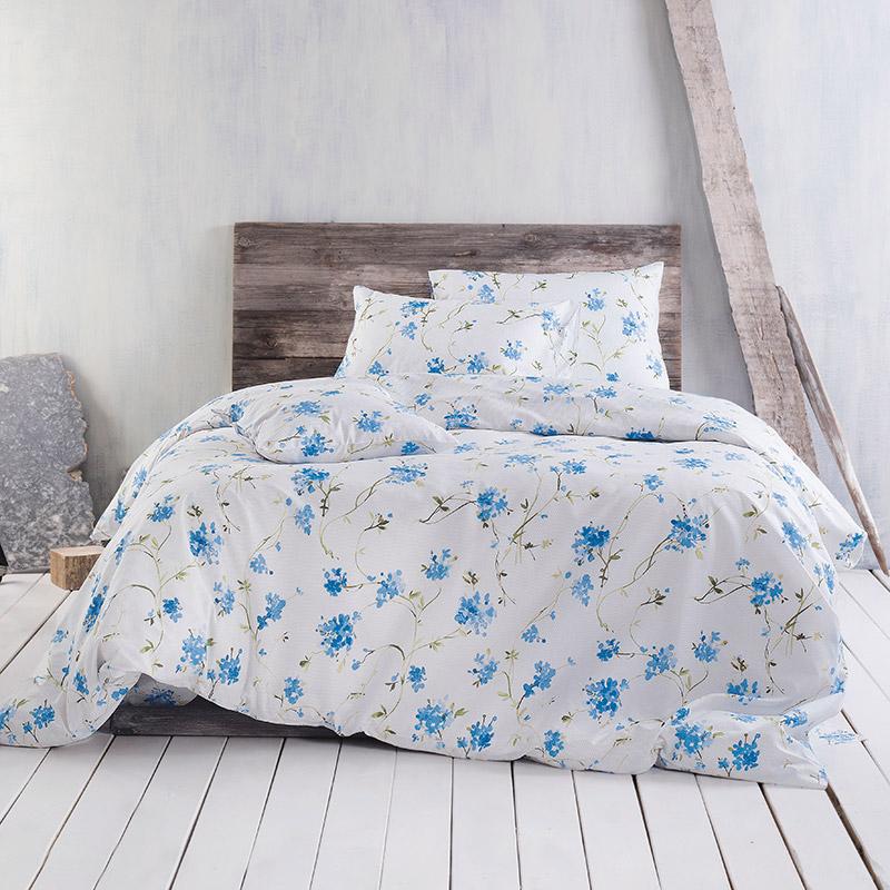 Σεντόνια Μονά (Σετ) 160X260 Rythmos Colette Blue Χωρίς Λάστιχο