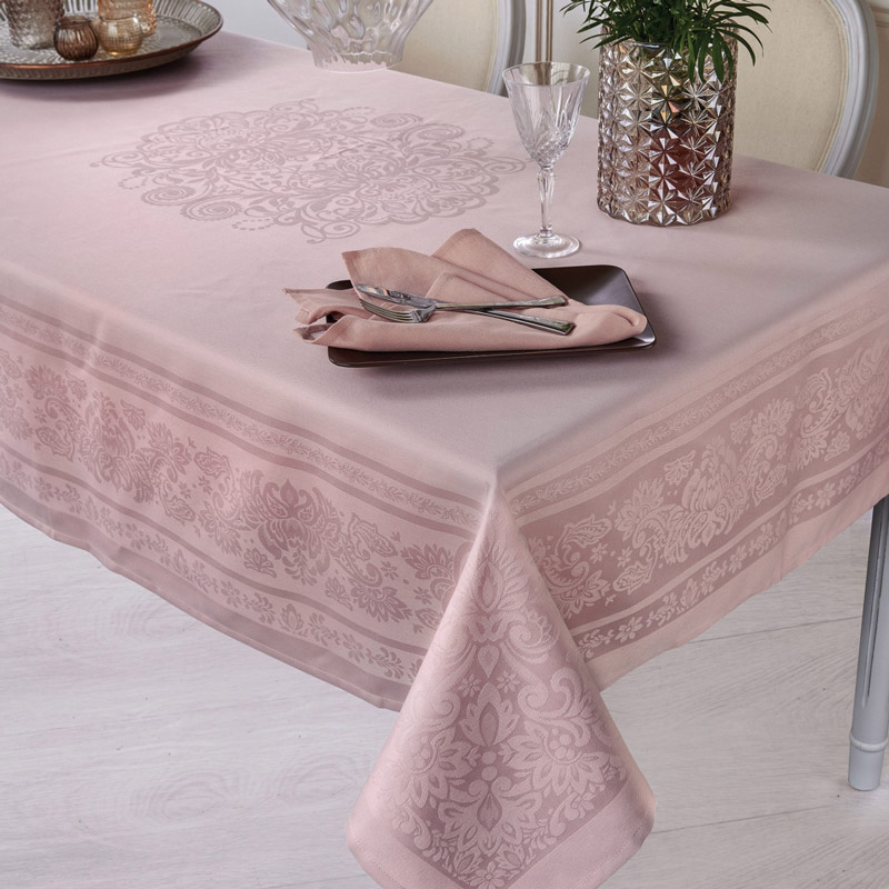 Τραπεζομάντηλο 160X270 Kentia Stylish Satino 18 Ροζ
