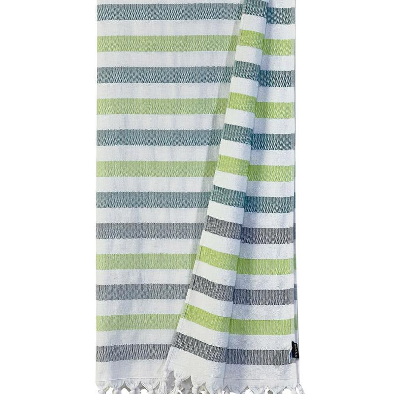 Πετσέτα-Παρεό 90X180 Kentia Loft Myrtos 22 Πράσινο