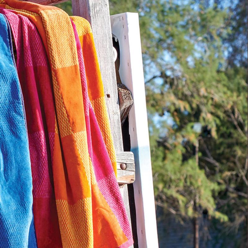 Πετσέτα Θαλάσσης 90X180 Kentia Loft Almira 18 Πορτοκαλί