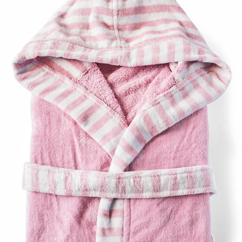Μπουρνούζι Με Κουκούλα X-Small Kentia Loft Adoria 14 Ροζ