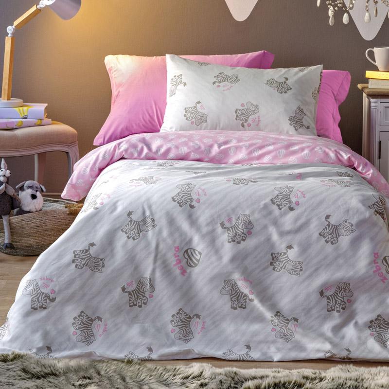 Σεντόνια Μονά (Σετ) 160X255 Kentia Versus Africa Ροζ Χωρίς Λάστιχο