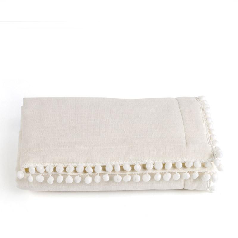 Κουβερτόριο Κούνιας 100X140 Kentia Stylish Pon-Pon 12 Λευκό