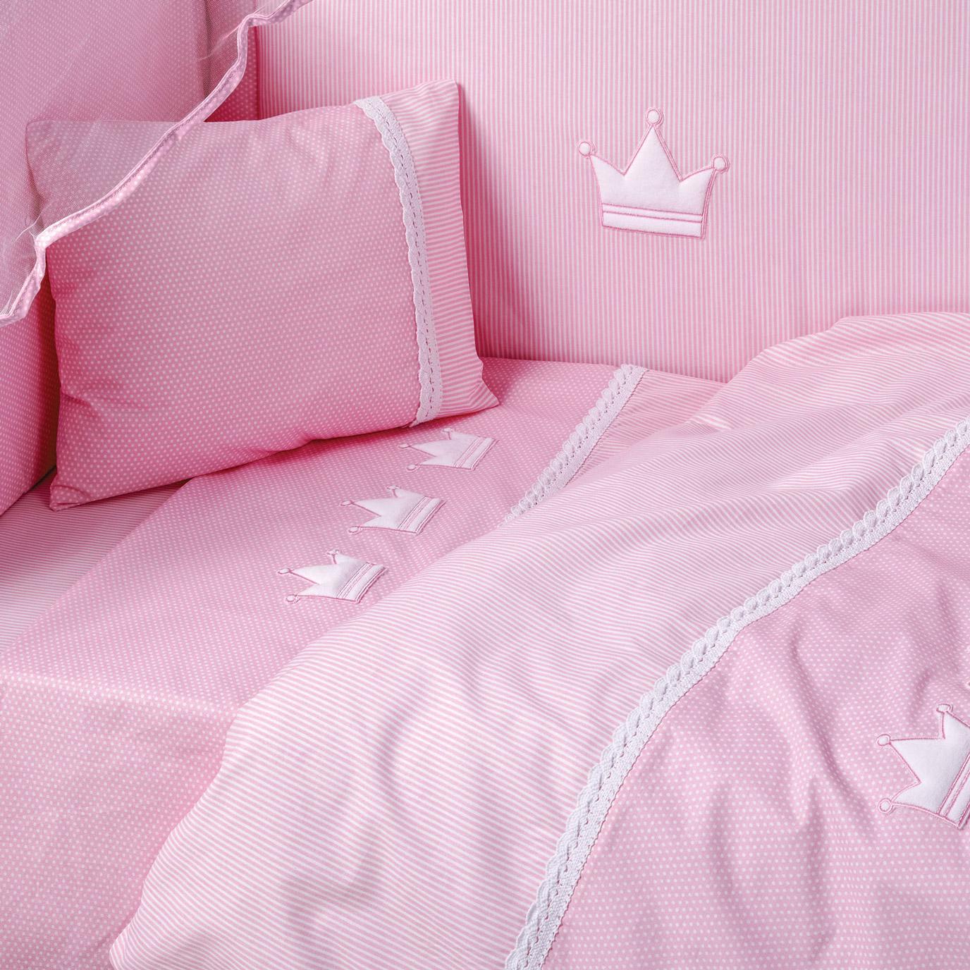 Παπλωματοθήκη Κούνιας (Σετ) 100X140 Kentia Loft Bambino 14 Ροζ