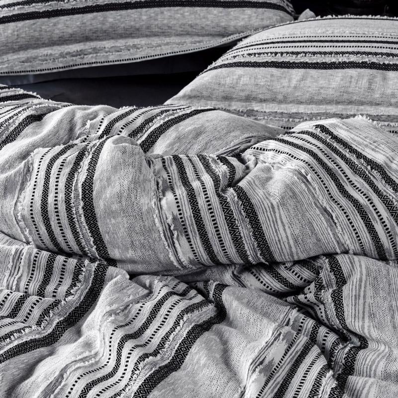 Ζεύγος Μαξιλαροθήκες Oxford 50X70+5 Kentia Serenity Etna Γκρι