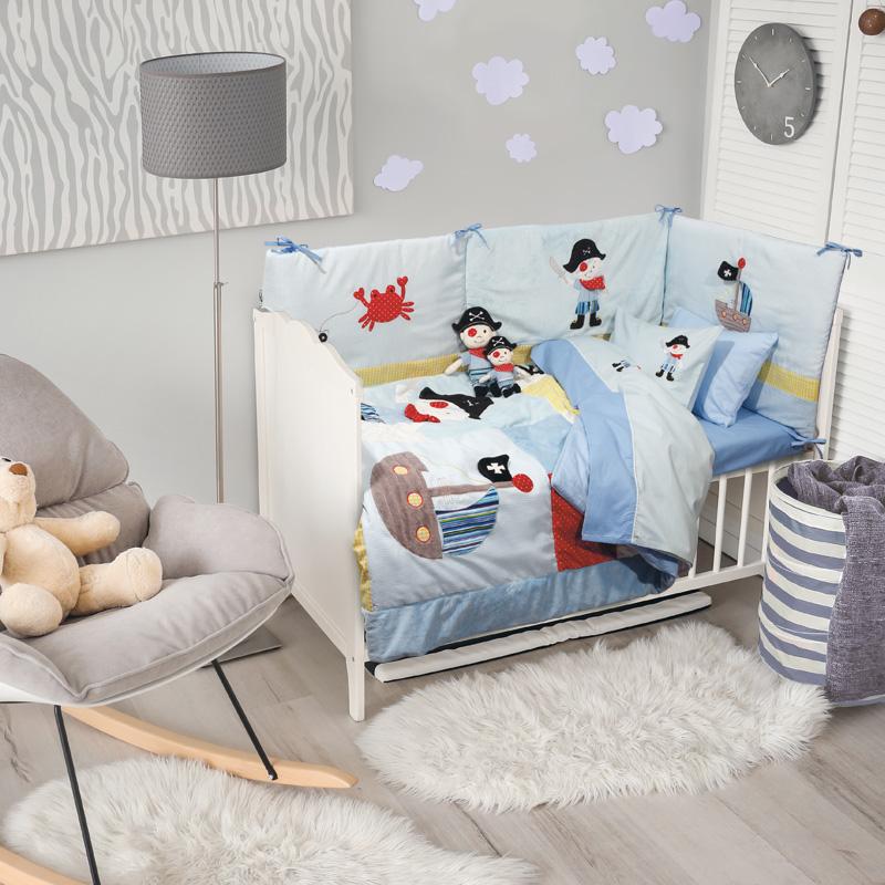 Κουβερλί Κούνιας 110×150 Das Home Dream Embroidery 6510 Γαλαζιο