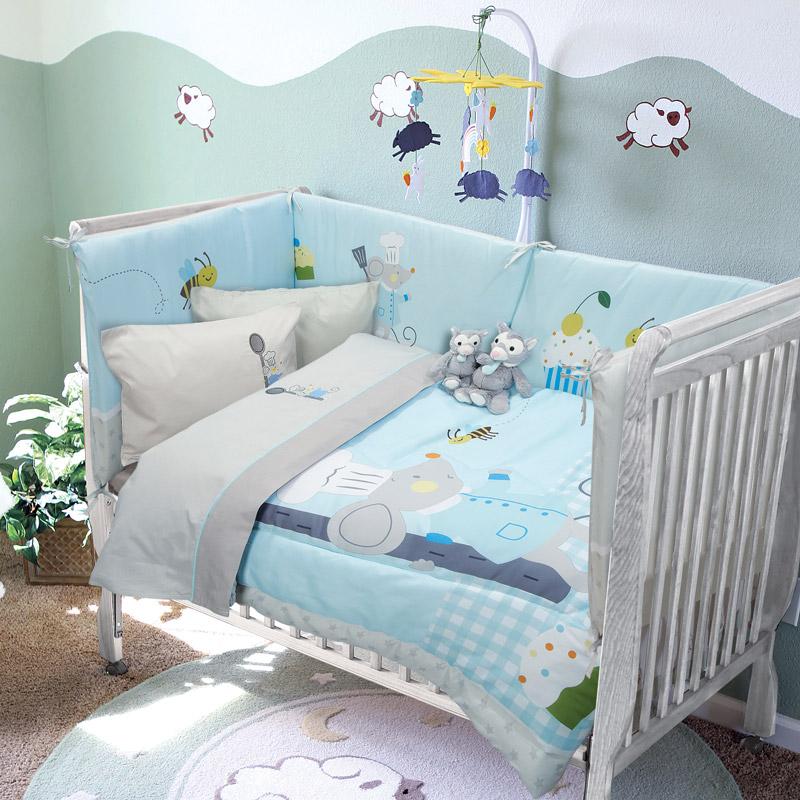 Κουβερλί Κούνιας 110X150 Das Home Smile 6581 Γαλάζιο