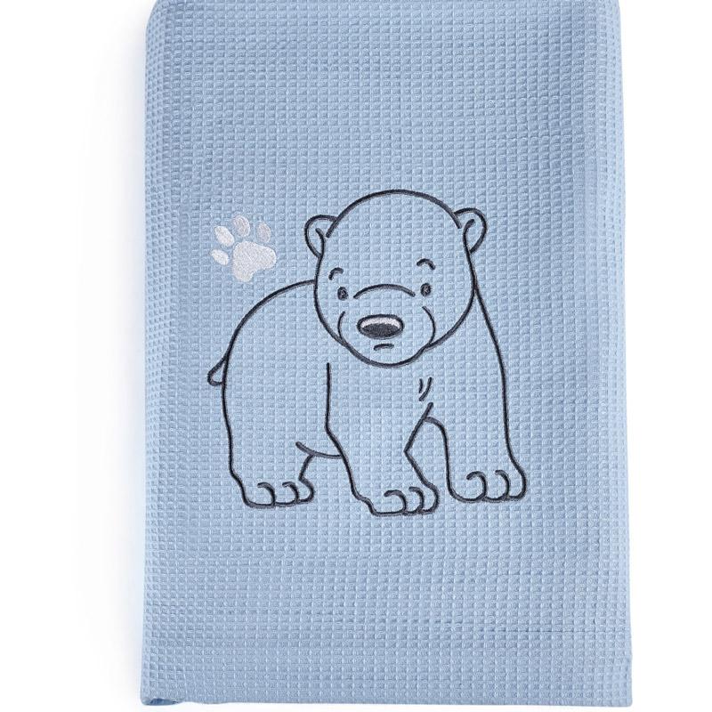 Κουβέρτα Πικέ Κούνιας 100X140 Kentia Stylish Polar Μπλε