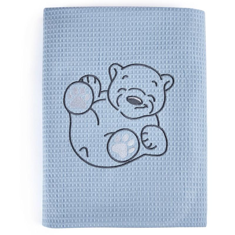 Κουβέρτα Πικέ Αγκαλιάς 70X100 Kentia Stylish Polar Μπλε
