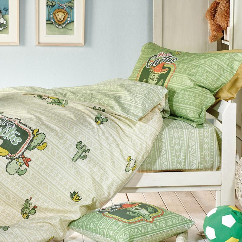 Κουβερλί Μονό (Σετ) 160X240 Kentia Loft Cactus Πράσινο