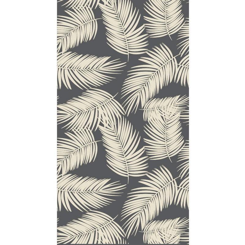 Πετσέτα Θαλάσσης 80X160 Kentia Loft Palm Μαύρο