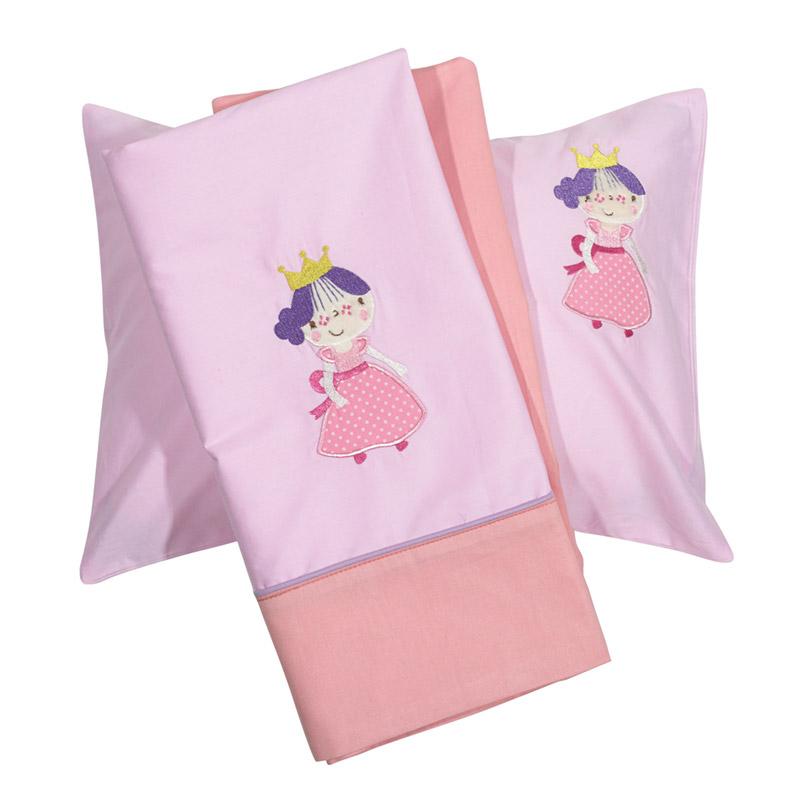 Σεντόνια Κούνιας (Σετ) 120X160 Das Home Smile Embroidery 6596 Χωρίς Λάστιχο