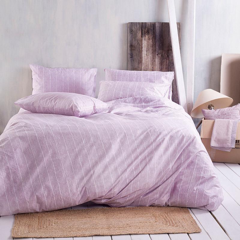 Σεντόνια Μονά (Σετ) 105X205+25 Rythmos Ellion Pink Με Λάστιχο