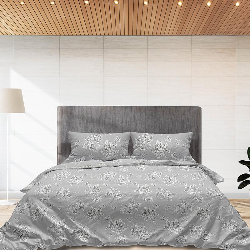 Φανελένια Σεντόνια Μονά (Σετ) 100% Βαμβάκι 960 Grey