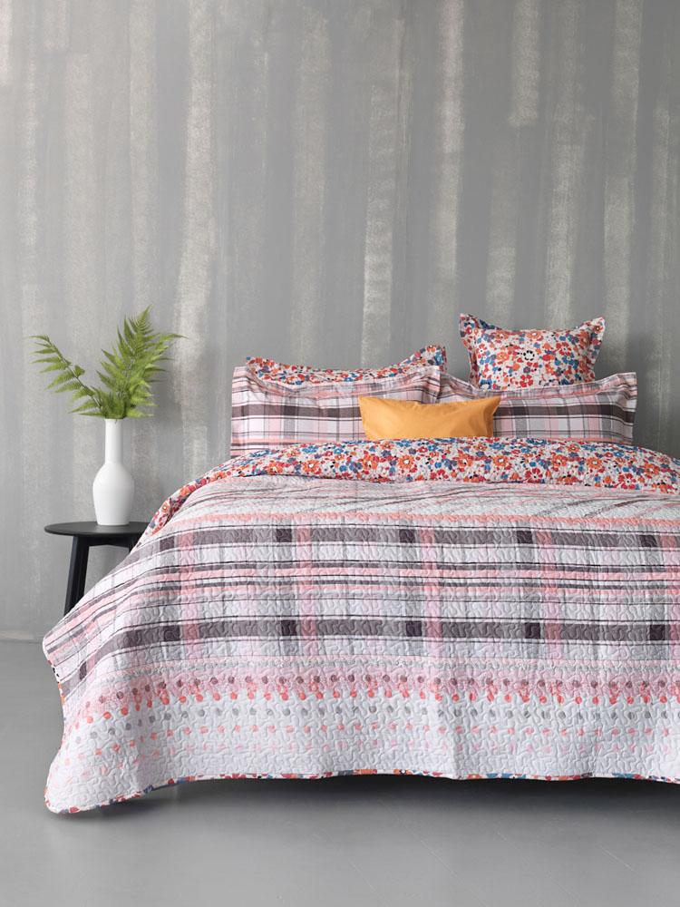 Σεντόνια+Κουβερλί Υπέρδιπλο (Σετ) 230x260220x240x B0616 Bed In A Bag Palamaiki Χωρίς Λάστιχο