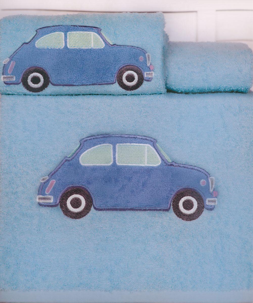 Πετσέτες Βρεφικές (Σετ 2τμχ) CAR Palamaiki Light Blue