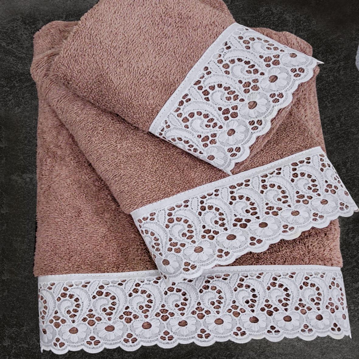 Πετσέτες Μπάνιου (Σετ 3 Τμχ) Sb Home Cordon Taupe