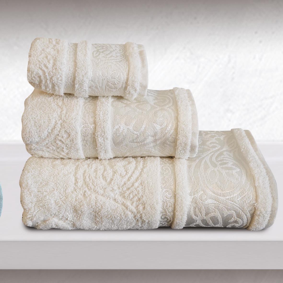 Πετσέτα Προσώπου 50X90 Sb Home Cronos Cream