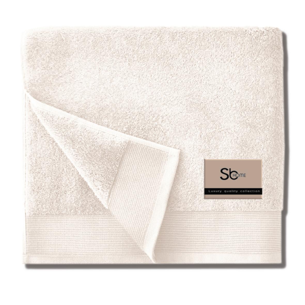 Πετσέτα Προσώπου 50X100 Sb Home Elegante Cream (50x100)