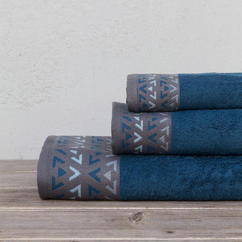 Πετσέτες Μπάνιου (Σετ 3 Τμχ) Kocoon Imane Blue