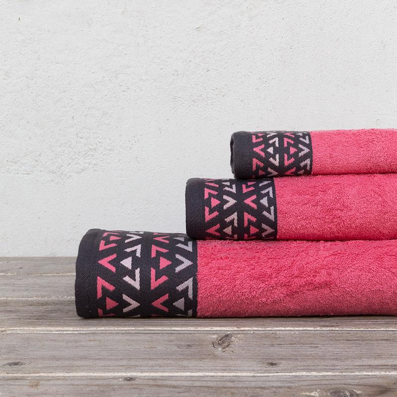 Πετσέτες Μπάνιου (Σετ 3 Τμχ) Kocoon Imane Watermelon