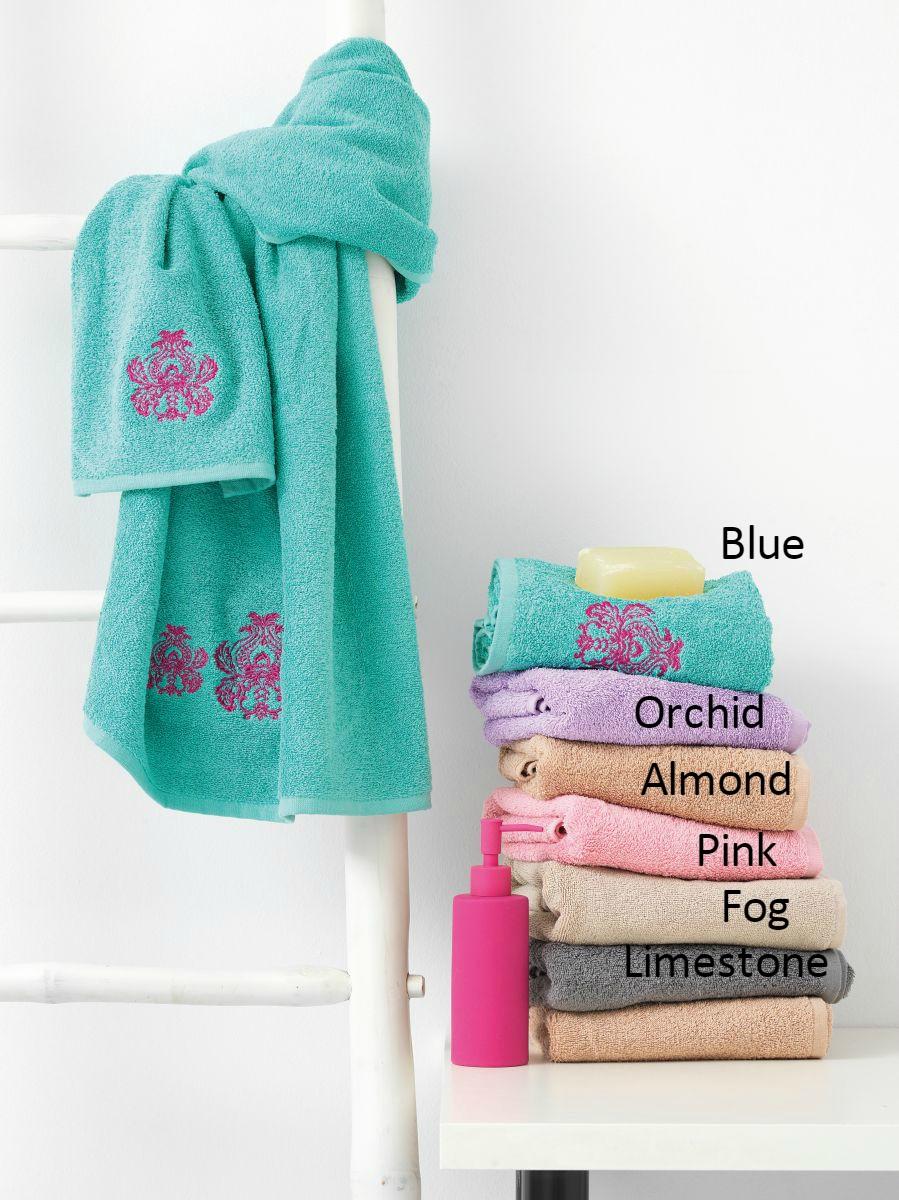Πετσέτες Μπάνιου (Σετ 3τμχ) KING Palamaiki Blue λευκά είδη μπάνιο πετσέτες μπάνιου